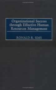 Cover of: Organizational Success through Effective Human Resources Management: