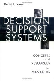 Cover of: Decision Support Systems | Daniel J. Power