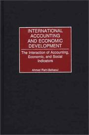 Cover of: International Accounting and Economic Development | Ahmed Riahi-Belkaoui