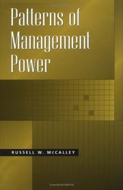 Cover of: Patterns of Management Power