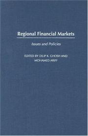 Cover of: Regional Financial Markets |