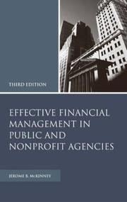 Cover of: Effective financial management in public and nonprofit agencies