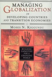 Cover of: Managing globalization in developing countries and transition economies