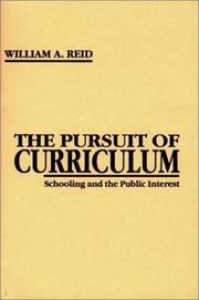 Cover of: The pursuit of curriculum