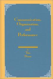 Cover of: Communication, organization, and performance