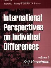 Cover of: Self Perception (International Perspectives on Individual Differences, V. 2) |
