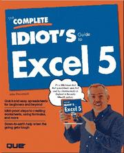 Cover of: The complete idiot's guide to Excel