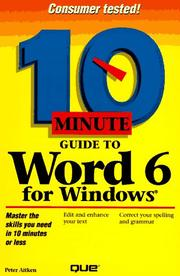 Cover of: 10 minute guide to Word for Windows 6