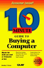 Cover of: 10 minute guide to buying a computer