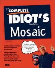 Cover of: The complete idiot's guide to Mosaic