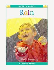 Cover of: Rain: Level 1 (Wonder Books Level 1-Weather)