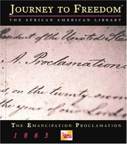 Cover of: The Emancipation Proclamation | Charles W. Carey