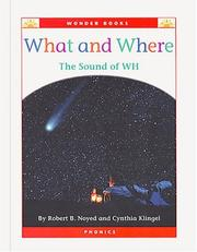 Cover of: What and where