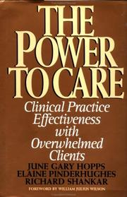 Cover of: The power to care | June G. Hopps