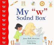 "Cover of: My ""w"" sound box by Jane Belk Moncure"