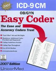 Cover of: ICD-9 Cm Easy Coder Ob/Gyn 2007 Edition (Easy Coder)