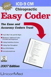 Cover of: ICD-9 Cm Easy Coder Chiropractic 2007 (Easy Coder)
