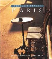 Cover of: Paris | Judith Mahoney Pasternak