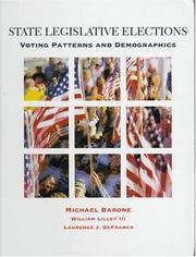 Cover of: State legislative elections