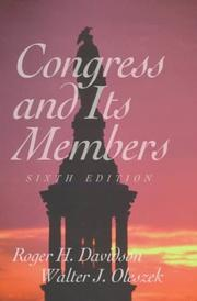 Cover of: Congress and Its Members | Roger H. Davidson