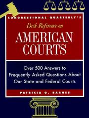 Cover of: Congressional Quarterly's desk reference on American courts