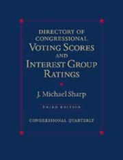 Cover of: Directory of Congressional Voting Scores and Interest Group Ratings (Directory of Congressional Voting Scores)