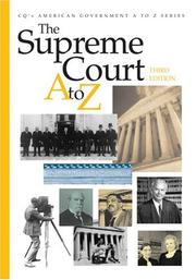 Cover of: The Supreme Court A to Z | Kenneth Jost, editor.