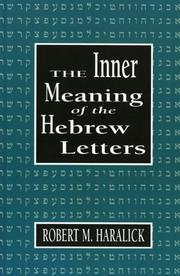 Cover of: The inner meaning of the Hebrew letters