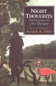 Night thoughts by Avodah K. Offit