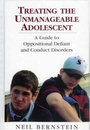 Cover of: Treating the unmanageable adolescent