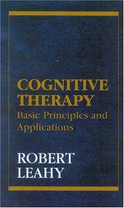 Cover of: Cognitive therapy | Robert L. Leahy