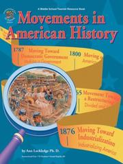 Cover of: Movements in American history