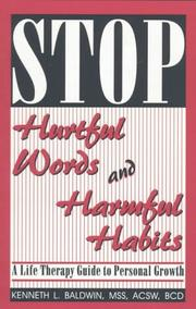 Cover of: Stop Hurtful Words and Harmful Habits