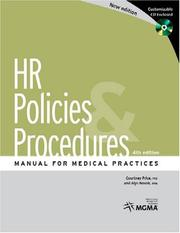 Cover of: HR Policies & Procedures Manual for Medical Practices with CDROM | Courtney Price
