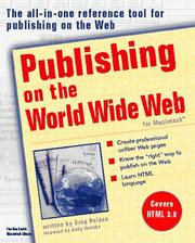 Cover of: Publishing on the World Wide Web for Macintosh: For Macintosh