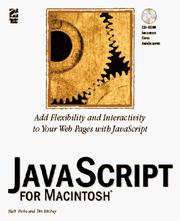 Cover of: JavaScript for Macintosh