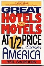 Cover of: Great hotels and motels at half price across America