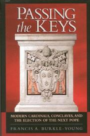 Cover of: Passing the keys