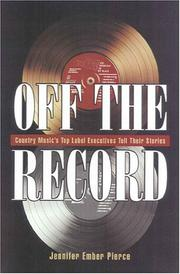 Cover of: Off the record | Jennifer Ember Pierce