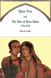 Cover of: Qajar Iran and the Rise of Reza Khan 1796-1925 | Nikki R. Keddie