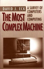 Cover of: The most complex machine