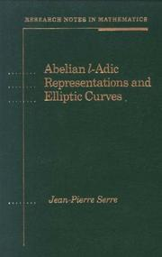 Cover of: Abelian l̳-adic representations and elliptic curves