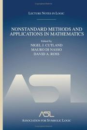 Cover of: Nonstandard methods and applications in mathematics |