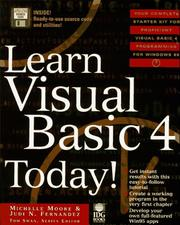 Cover of: Learn Visual Basic 4 today! | Michelle Moore