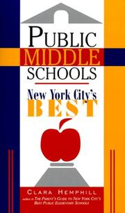 Cover of: Public middle schools
