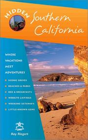 Cover of: Hidden Southern California | Ray Riegert