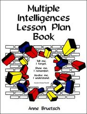 Cover of: Multiple intelligences lesson plan book | Anne Bruetsch