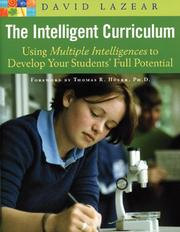 Cover of: The Intelligent Curriculum | David G. Lazear