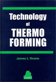 Cover of: Technology of thermoforming