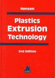 Cover of: Plastics extrusion technology |